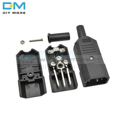 Ac-013A Ac 250V 10A Male Power Adapter Iron Core 3 Terminals Iec320 C13 Connector Pins Module