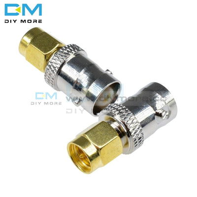 Rf Coax Coaxial Sma Male Plug To Bnc Female M/f Radio Antenna Contor Adapter For Gold-Plated