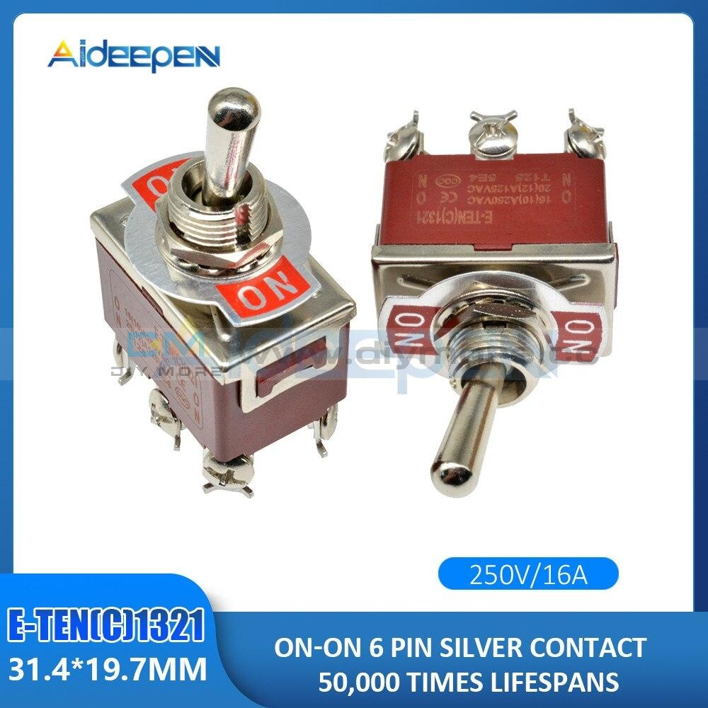 Toggle Switch E-Ten(C)1322/1221/1321/1122/1021/1121/223 E-Ten(A)9310/9210 2/3/4/6/9/12 Pin On-On