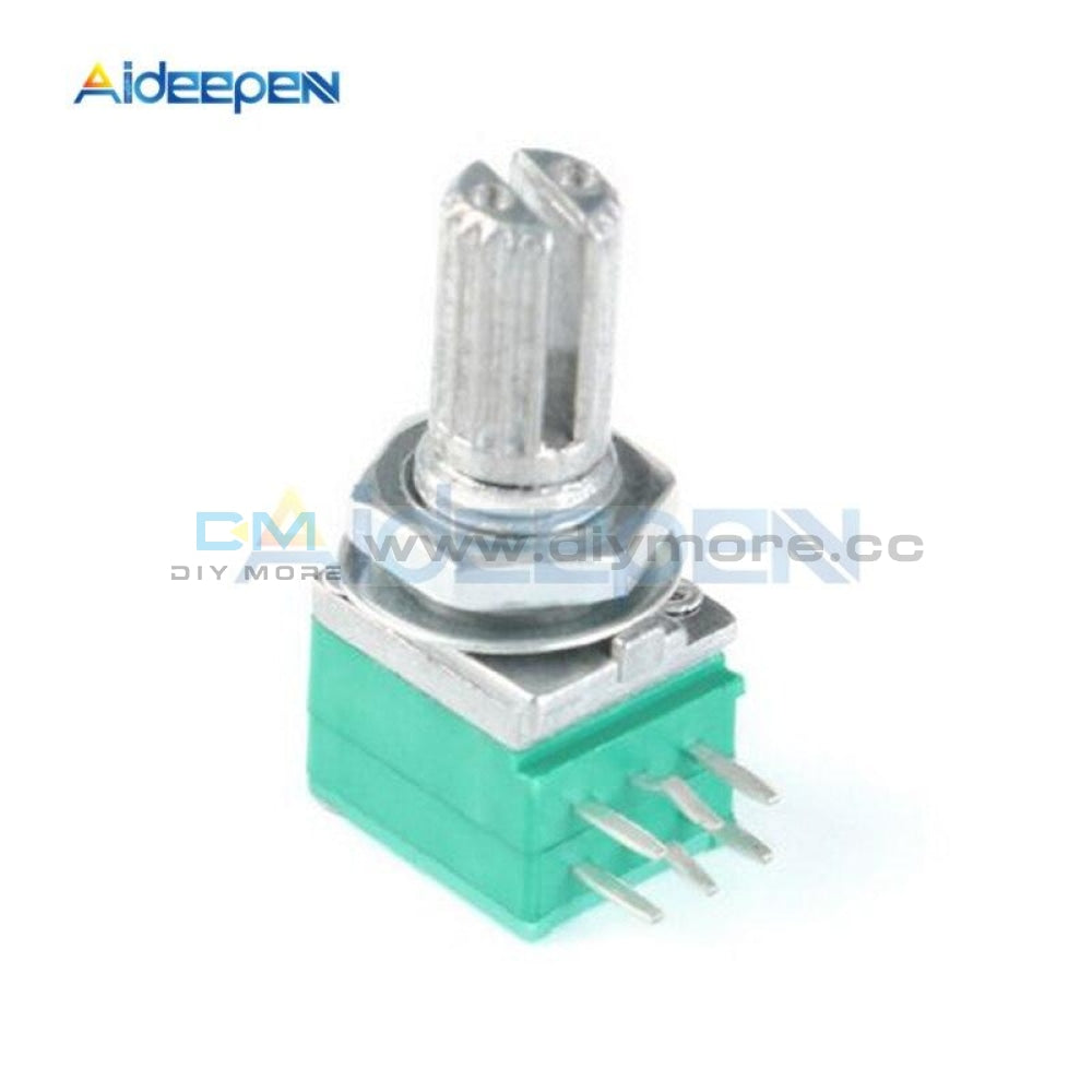 5Pcs/lot 6Mm B10K 10K Ohm 3 Pin 6 Single Linear Rotary Potentiometer 15Mm Knurled Shaft With Nuts
