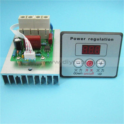 Ac 220V 10000W Digital Voltage Regulator Speed Controller Scr Dimmer Thermostat Motor