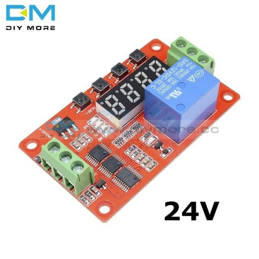 Dc 5V/12V/24V Multifunction Self Lock Relay Plc Digital Display Cycle Delay Time Timer Switch Module