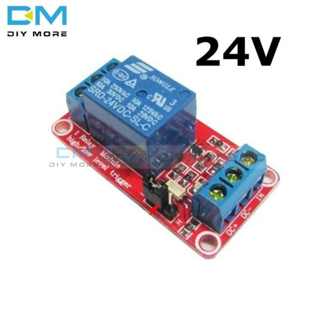 One 1 Channel 5V 12V 24V Relay Module Board Shield With Optocoupler Support High And Low Level