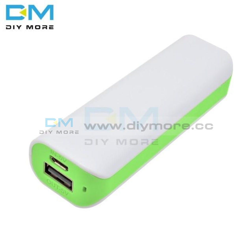 Candy Color Portable Led Power Bank For Mobile Phone 18650 Box Charger Diy Case Dual Usb Supply