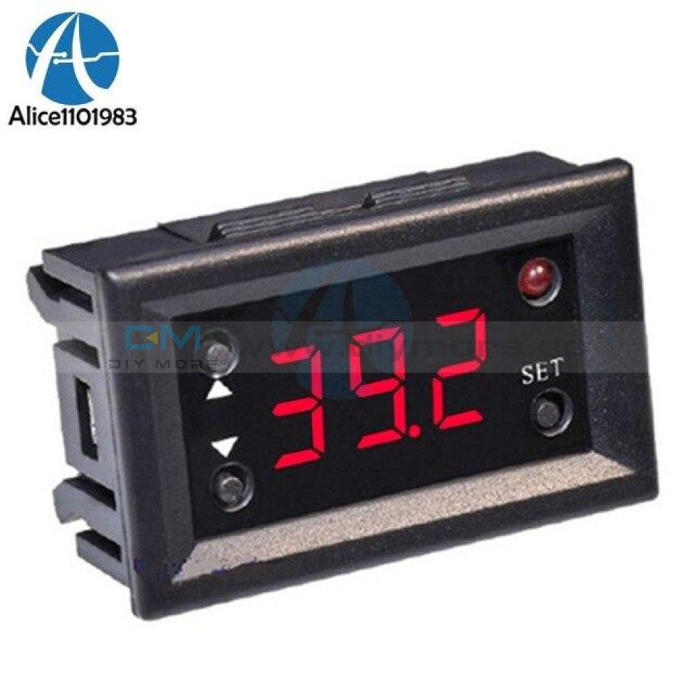 W1218 Digital Thermostat Temperature Controller Regulator For Incubator Termostat With Ntc Probe Red