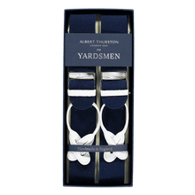 Load image into Gallery viewer, Braces - Navy Blue / White