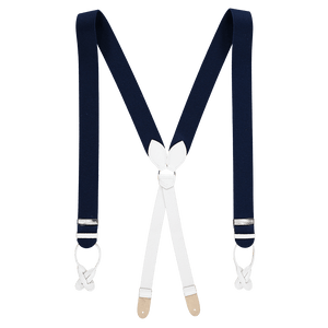 Braces - Navy Blue / White