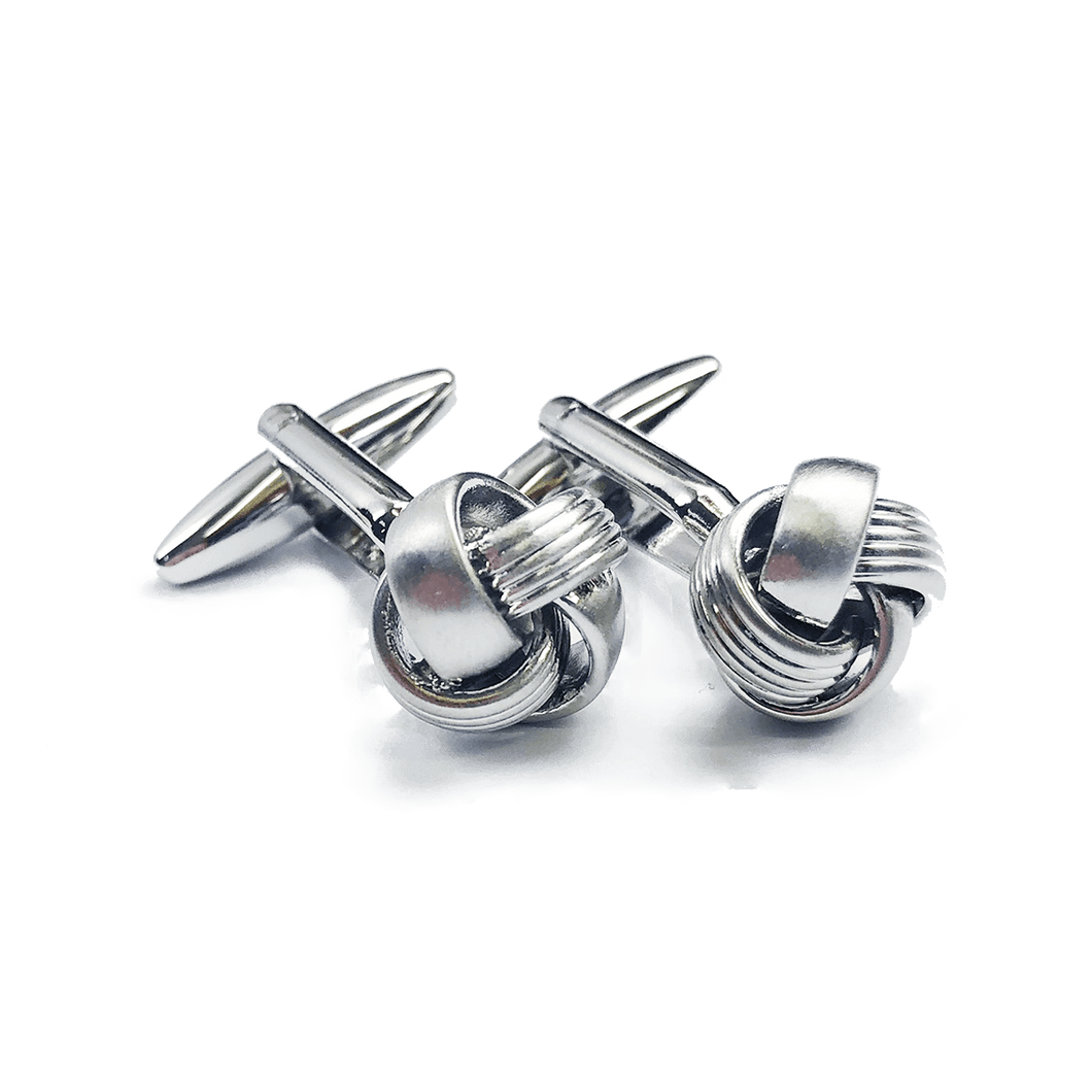 Cufflinks - Knotted Silver