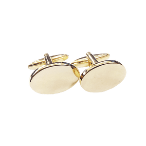Cufflinks - Oval Gold