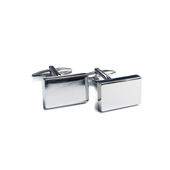 Cufflinks - Rectangle Silver