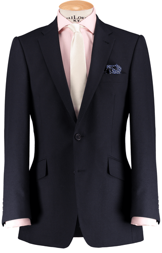 RTW Navy Blue 3 Piece Suit