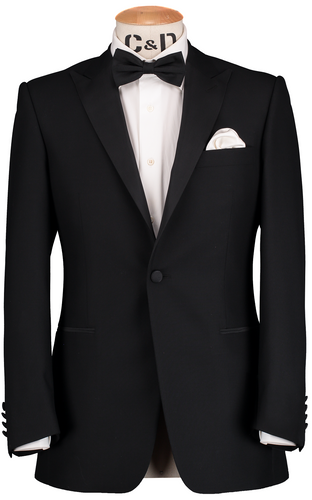 RTW Dinner Peak Suit - Black