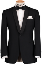 Load image into Gallery viewer, HW Dinner Shawl Suit - Black