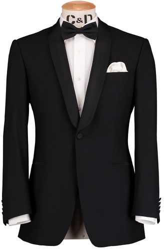 HW Dinner Shawl Suit - Black