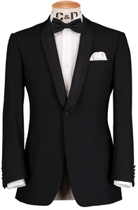 RTW Dinner Shawl Suit - Black