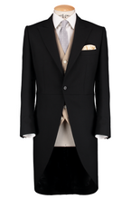 Load image into Gallery viewer, HW Black Morning Suit - Pinstripe with Single Breasted Beige Waistcoat