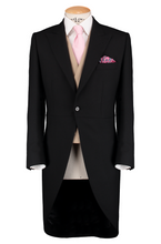 Load image into Gallery viewer, HW Black Morning Suit - Pinstripe with Double Breasted Beige Waistcoat