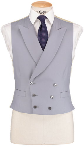 RTW Double Breasted Dove Grey Waistcoat