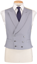 Load image into Gallery viewer, HW Black Morning Suit - Houndstooth with Double Breasted Dove Grey Waistcoat