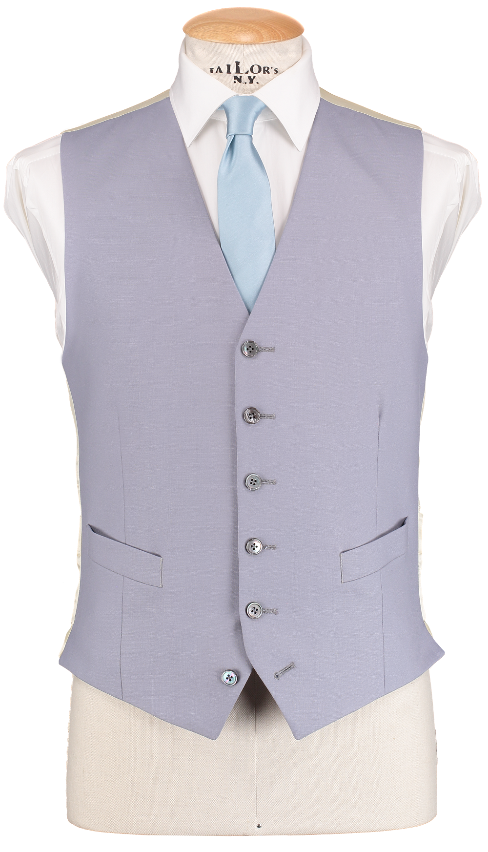 HW Single Breasted Dove Grey Waistcoat