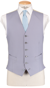 HW Black Morning Suit - Pinstripe with Single Breasted Dove Grey Waistcoat