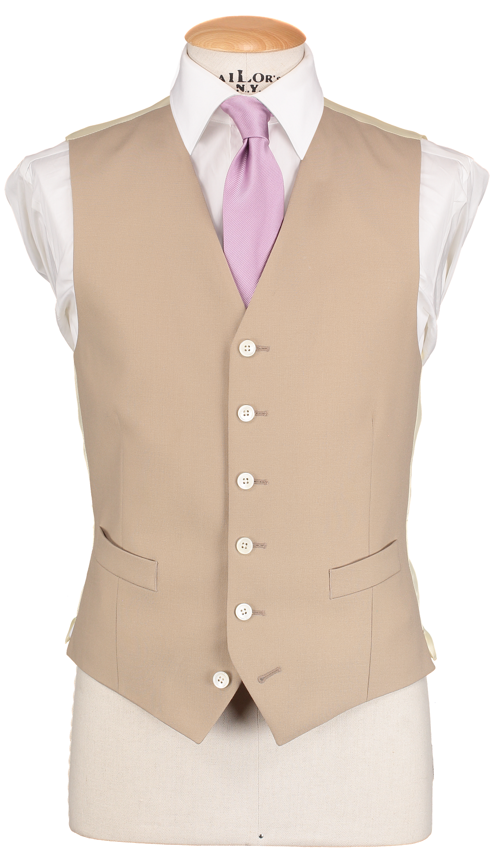 RTW Single Breasted Beige Waistcoat