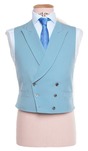 HW Double Breasted Baby Blue Waistcoat