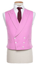 Load image into Gallery viewer, HW Black Morning Suit - Pinstripe with Double Breasted Pink Waistcoat