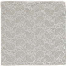 Load image into Gallery viewer, Pocket Square - Paisley Champagne