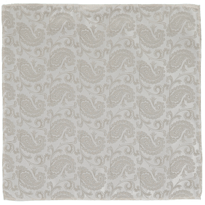 Pocket Square - Paisley Champagne