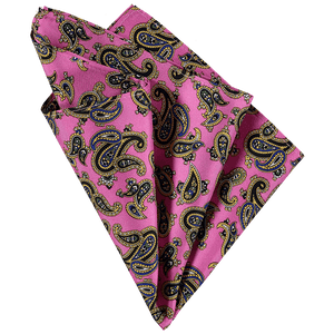 Pocket Square - Paisley Dark Pink