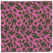 Load image into Gallery viewer, Pocket Square - Paisley Dark Pink