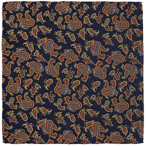 Pocket Square - Paisley Navy Blue