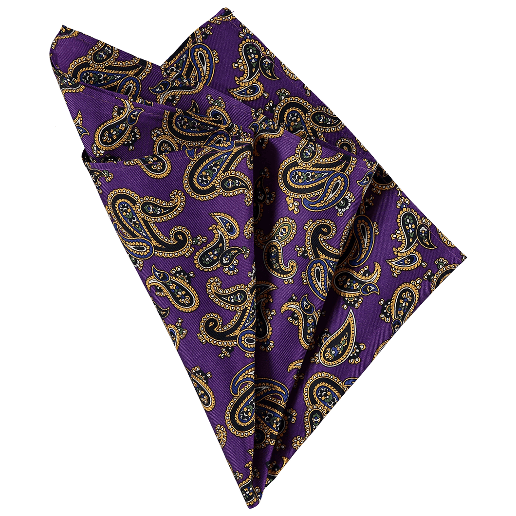 Pocket Square - Paisley Purple