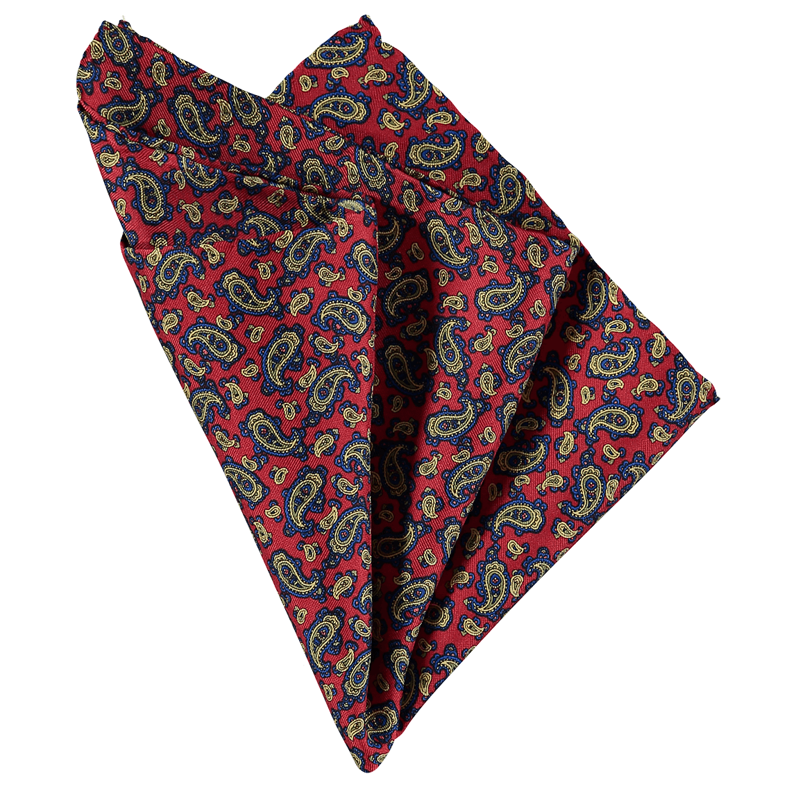 Pocket Square - Paisley Red