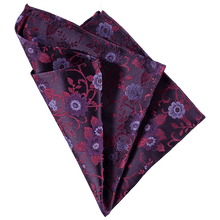Load image into Gallery viewer, Pocket Square - Flower Pink/Purple