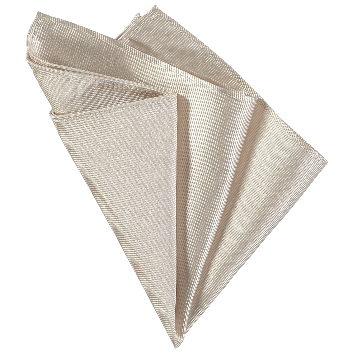Pocket Square - Off White Ribbed