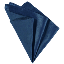 Load image into Gallery viewer, Pocket Square - Blue Peacock