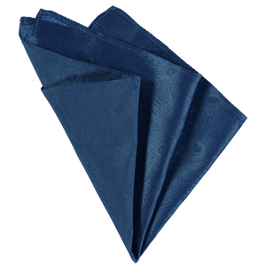 Pocket Square - Blue Peacock