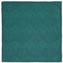 Load image into Gallery viewer, Pocket Square - Green Peacock