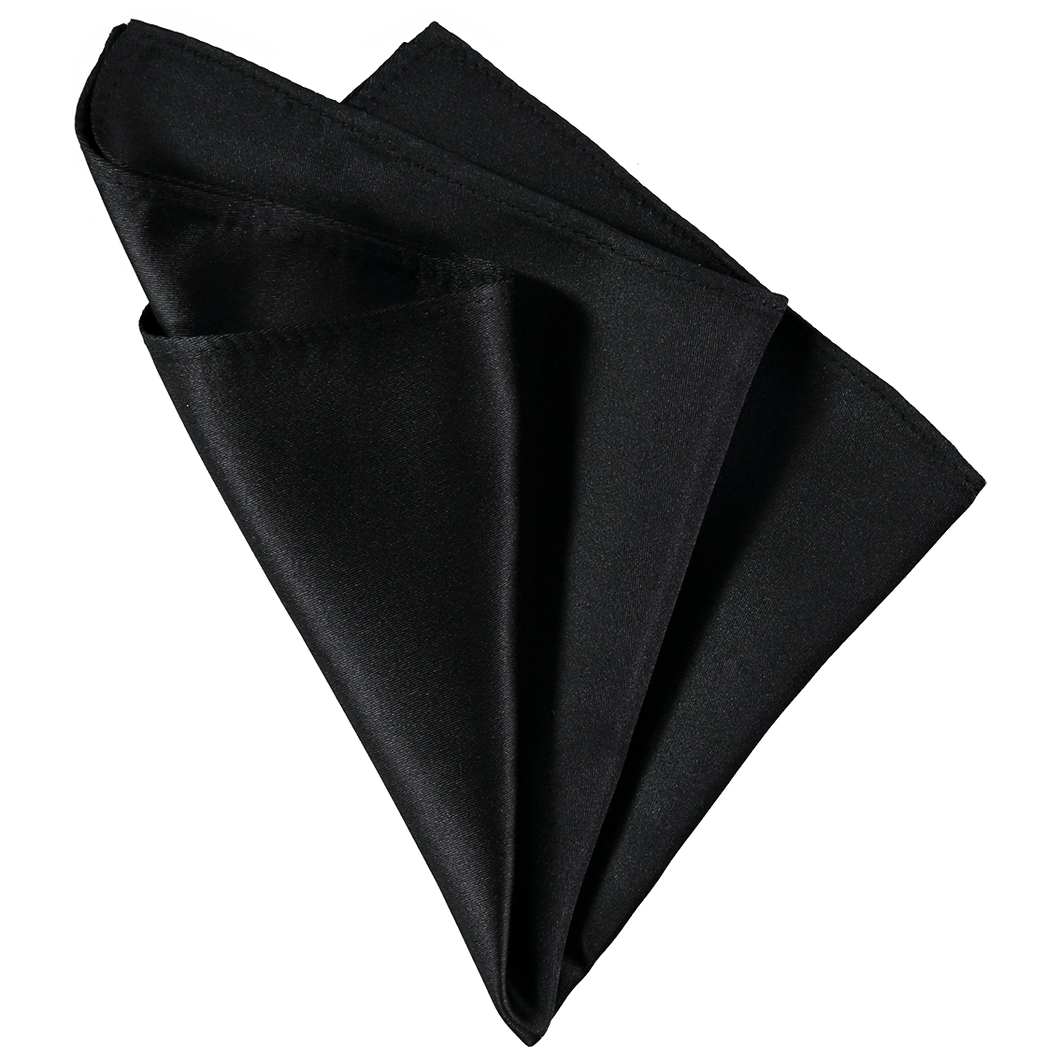 Pocket Square - Plain Black