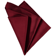 Load image into Gallery viewer, Pocket Square - Plain Dark Red