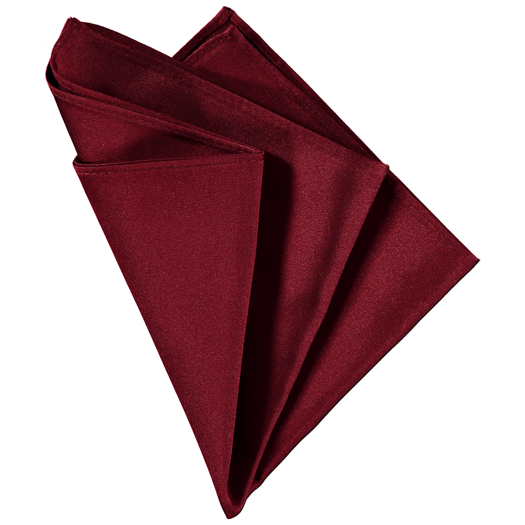 Pocket Square - Plain Dark Red
