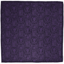 Load image into Gallery viewer, Pocket Square - Skull Purple