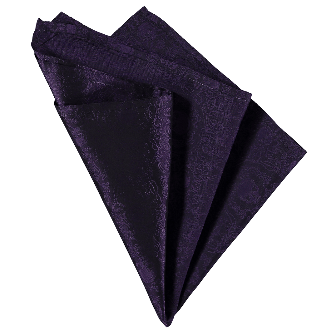 Pocket Square - Skull Purple