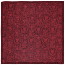 Load image into Gallery viewer, Pocket Square - Skull Red