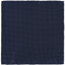 Load image into Gallery viewer, Pocket Square - Dark Blue White Spots