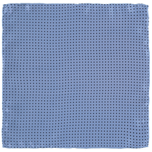 Load image into Gallery viewer, Pocket Square - Light Blue Black Spots