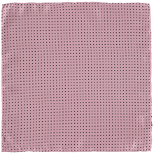 Load image into Gallery viewer, Pocket Square - Pink Black Spots