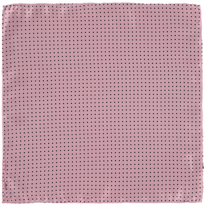 Pocket Square - Pink Black Spots